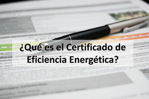 que es el certificado energetico